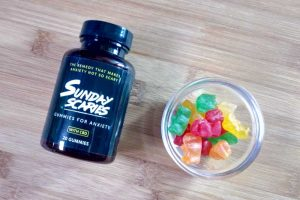 Photo of a bottle of Sunday Scaries Gummies for Anxiety, Best CBD Gummies 2019